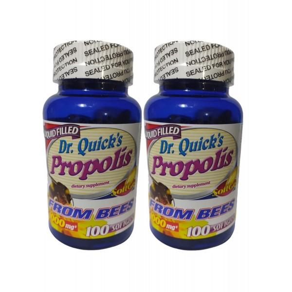 Dr Quicks Propolis 500 mg 100 Softgels 2 Adet