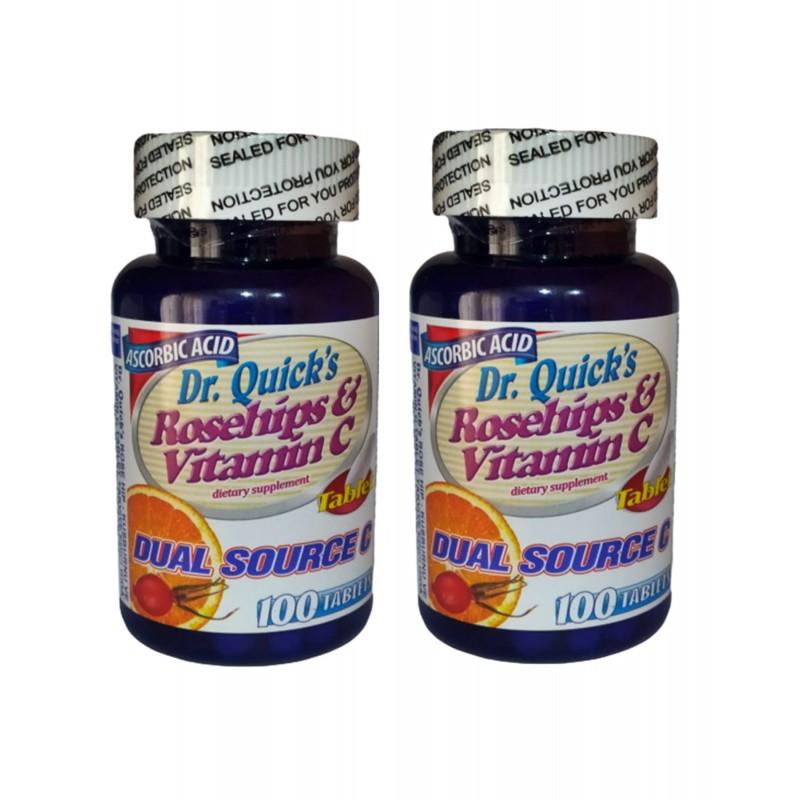 Dr.Quicks Vitamin C 1000 mg Rosehips 100 Tablet 2 kutu