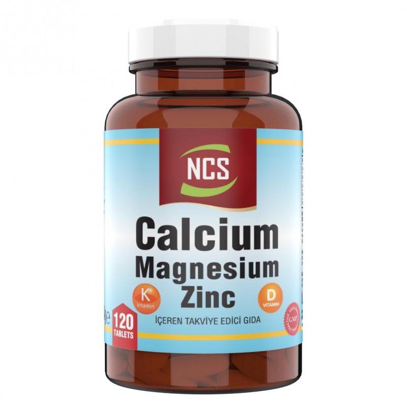Ncs Calcium Magnesium Çinko D K (Kalsiyum Magnezyum Çinko) 120 Tablet