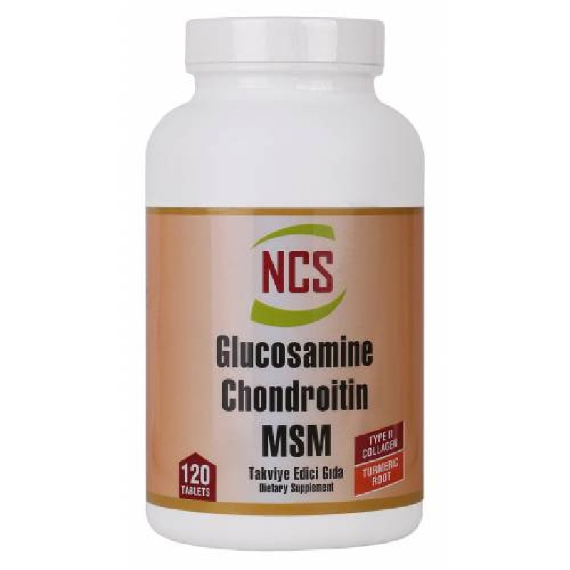 NCS  Glucosamine Chondroitin MSM TYPE II Collagen Turmeric 120 Tablet