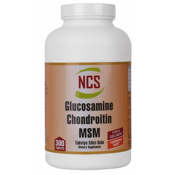 NCS  Glucosamine Chondroitin MSM TYPE II Collagen Turmeric 300 Tablet