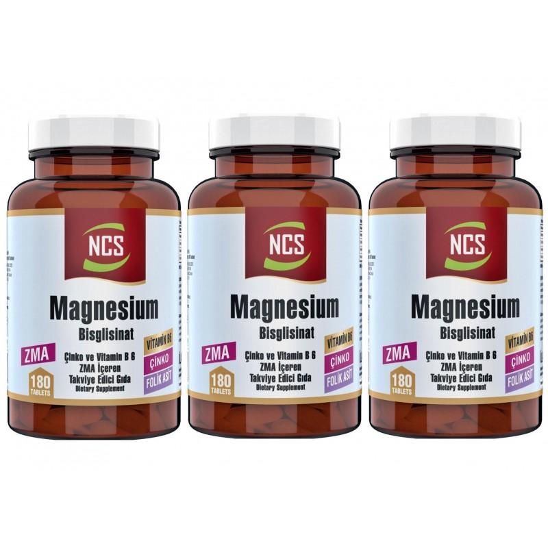 Ncs Zma 180 Tablet Çinko Folic Acid Vitamin B 6 Magnezyum Bisglisinat