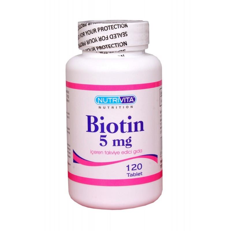Nutrivita Nutrition Biotin 5 mg 120 Tablet
