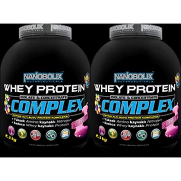Nanobolix Whey Protein Complex 2.3 kg Çilek Aromalı 2 Adet