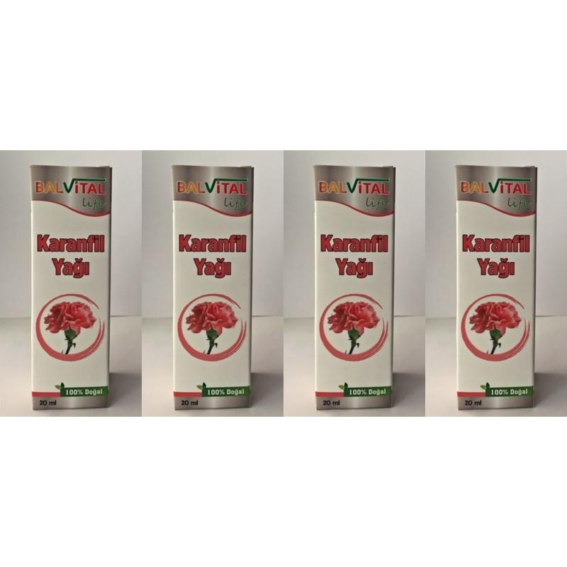 BalVital Karanfil Yağı 20 ml 4 kutu