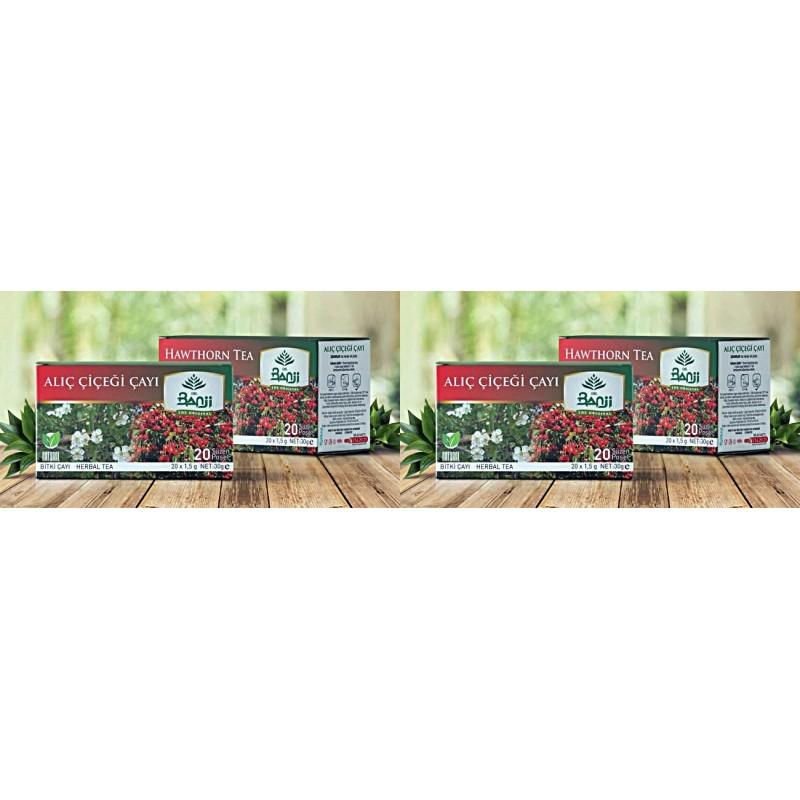 Dr. Banji Alıç Çiçeği Bitki Süzen Poşet Çay 4'lü 20 x 1.5 G