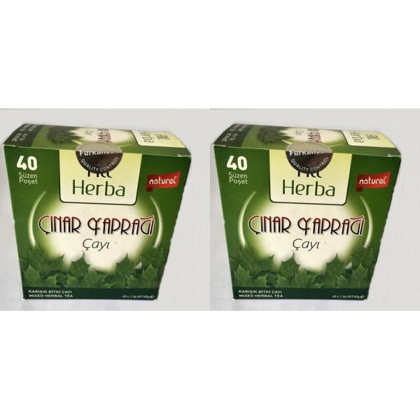 All Herba Çınar Yaprağı Karışık Bitki Süzen Poşet Çay 2'li 40 x 1.5 G