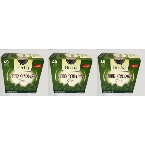 All Herba Çınar Yaprağı Karışık Bitki Süzen Poşet Çay 3'lü 40 x 1.5 G