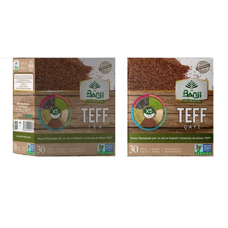 Dr. Banji Teff X5 Karışık Bitki Süzen Poşet Çay 2'li 30 x 1.5 G