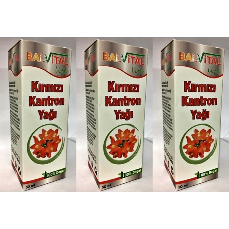 Balvital Kırmızı Kantaron Yağı 50 ml-3 adet