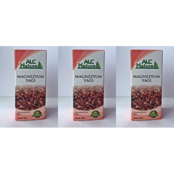 Alc Natural Magnezyum Yağı 50 ml 3 kutu