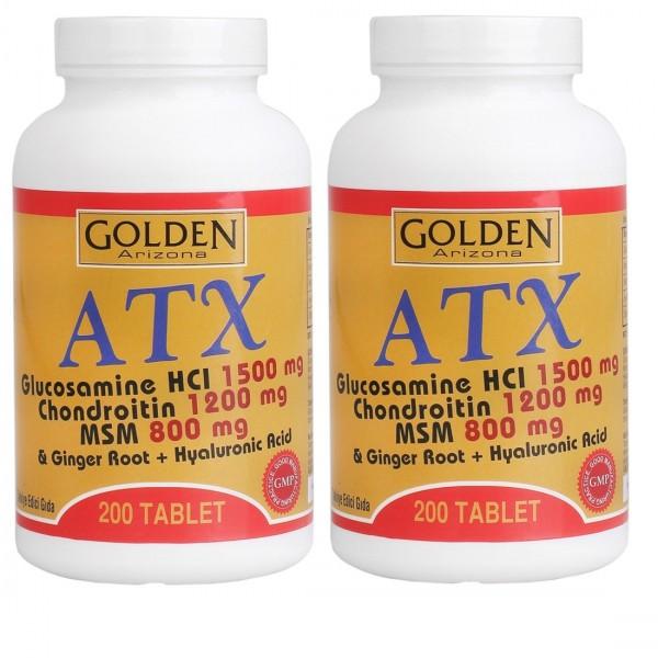Golden Arizona ATX Glucosamine Chondroitin Msm Hyaluronik Acid 200 Tablet 2 Kutu