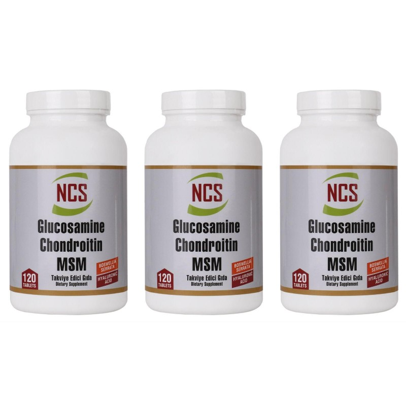 Ncs Glucosamine Chondroitin MSM Hyaluronic Acid Boswellia 360 Tab