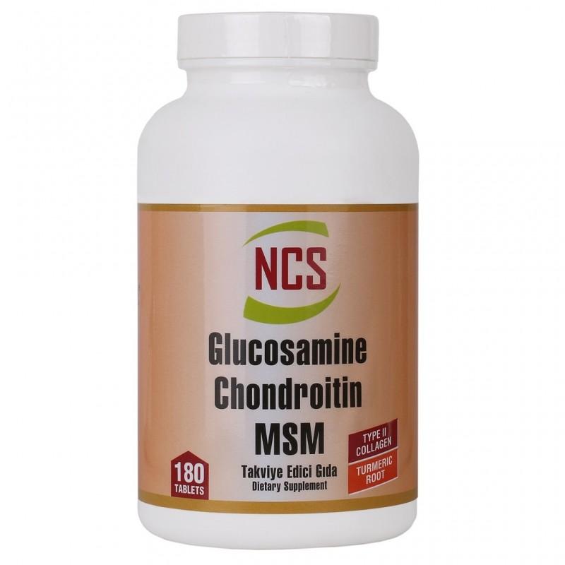 Ncs Glucosamine Chondroitin MSM TYPE 2 Collagen Turmenic Root 180