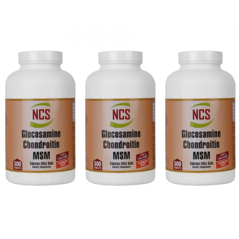 Ncs Glucosamine Chondroitin MSM TYPE II Collagen Turmeric 900 Tab