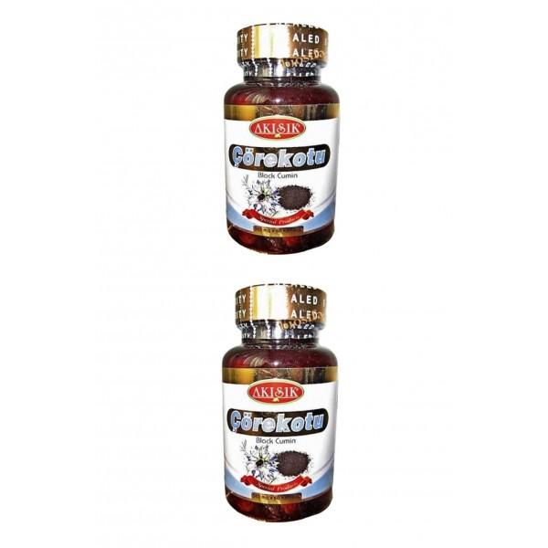 Akışık Çörekotu Kapsul 500 mg 60 Kapsül 2 kutu