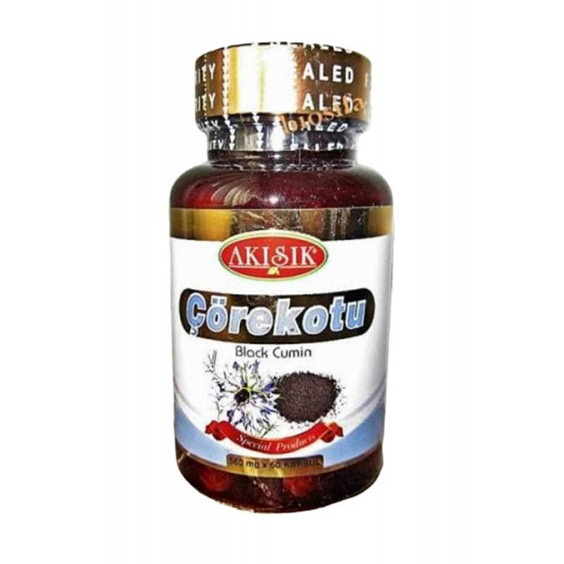 Akışık Çörekotu Kapsul 500 mg 60 Kapsül