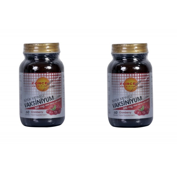 Cranberry Büyük Meyveli Vaksiniyum 500 mg 60 Tablets 2 kutu