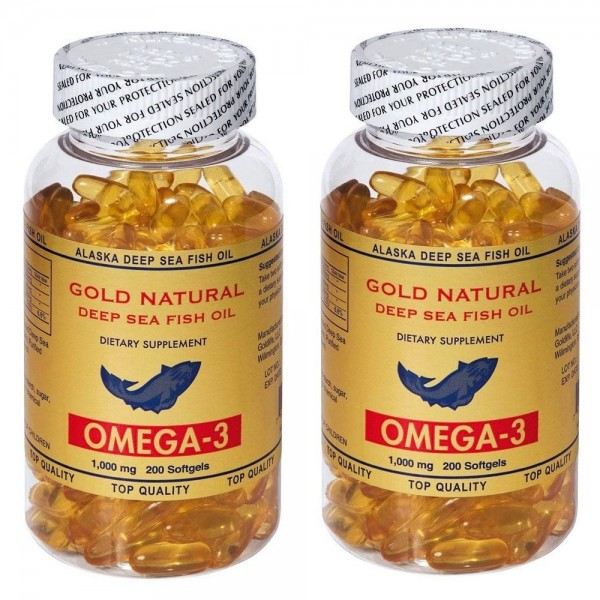 Gold Natural Omega 3 200 softgels  2 Kutu