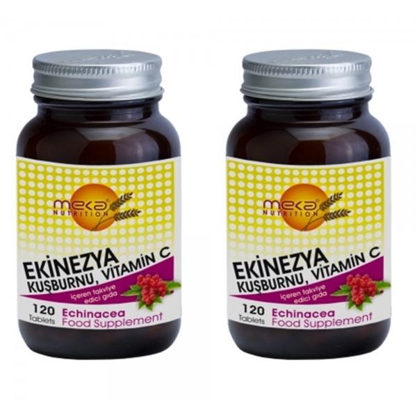 Meka Nutrition Ekinezya Kuşburnu ve Vitamin C 120 Tablet 2 tablet
