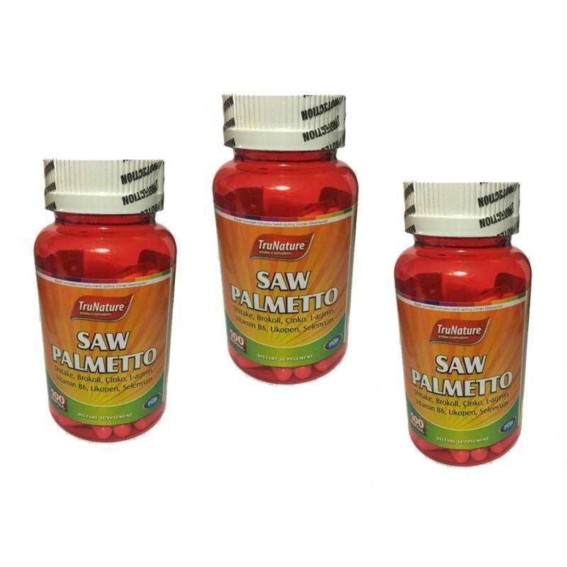 Trunature Saw Palmetto Complex 450 mg 100 Kapsül 3 kutu