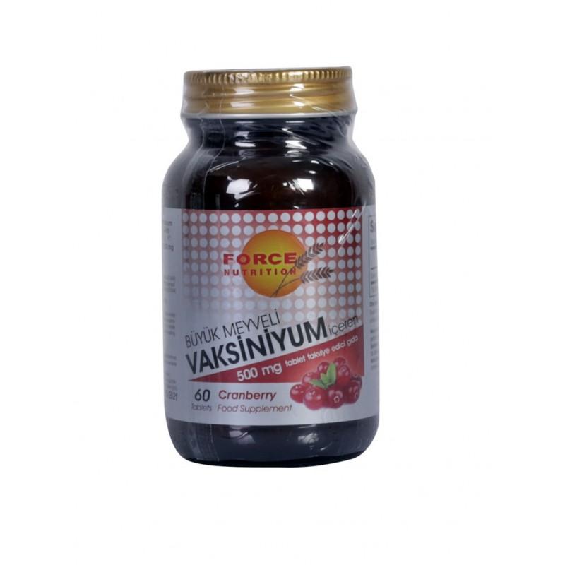 Cranberry Büyük Meyveli Vaksiniyum 500 mg 60 Tablets