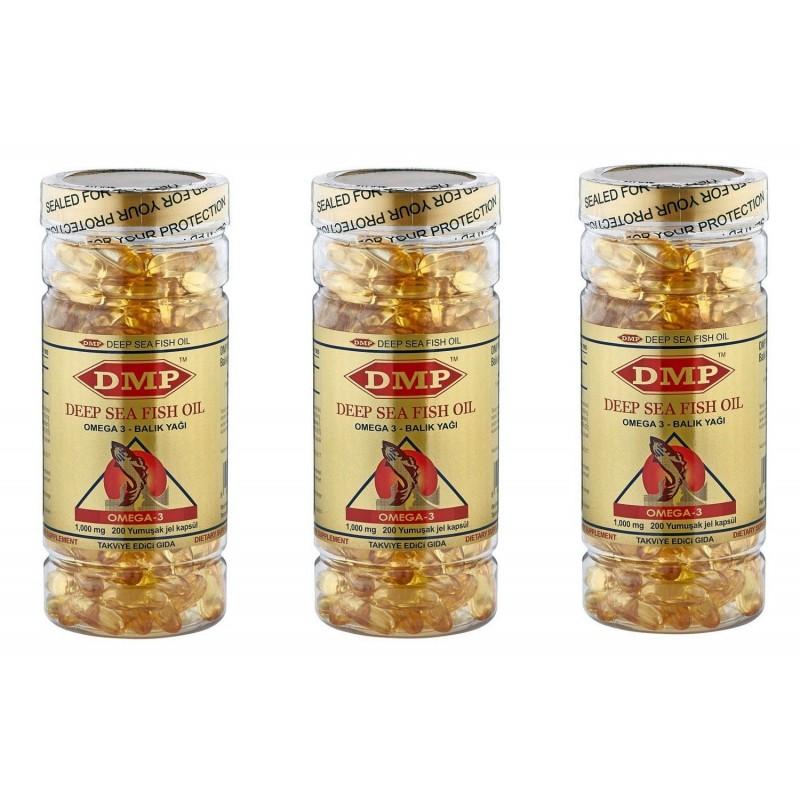 DMP Omega 3 Balık Yağı 200 Softgel 3 kutu İNDİRİM