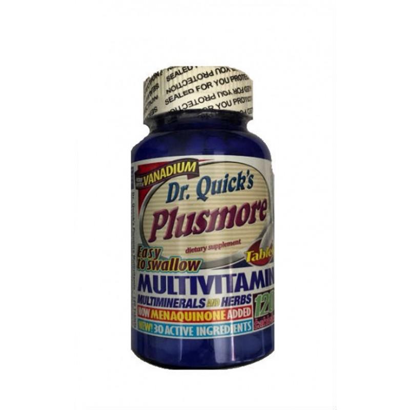 Dr Quicks Plusmore Multi Vitamin Mineral 120 Tab.İNDİRİMDE