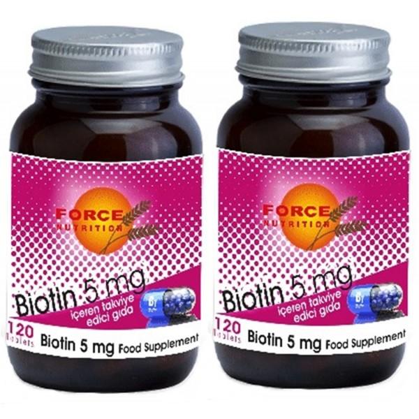 Force Nutrition Biotin 5 mg 120 Tablet 2 Kutu