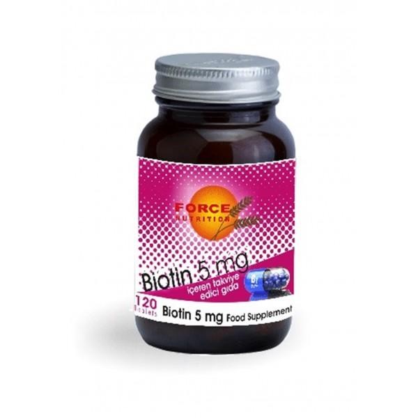 Force Nutrition Biotin 5 mg 120 Tablet