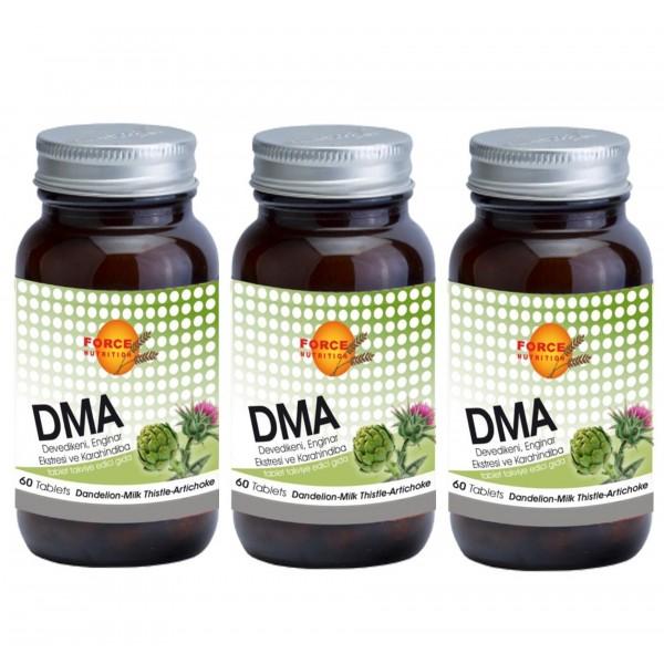Force Nutrition DMA Deve Dikeni Enginar Ekstresi Karahindiba 60 T