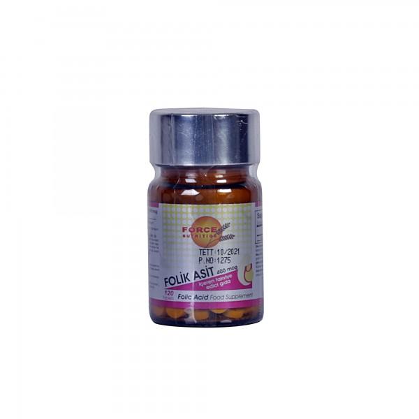 Force Nutrition Folik Asit 400 mcg 120 Tablets