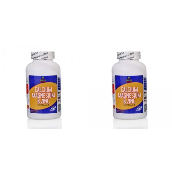 Mefa Naturals Calcium Magnesium Zinc Vitamin D 3 300 Tablet 2 kut