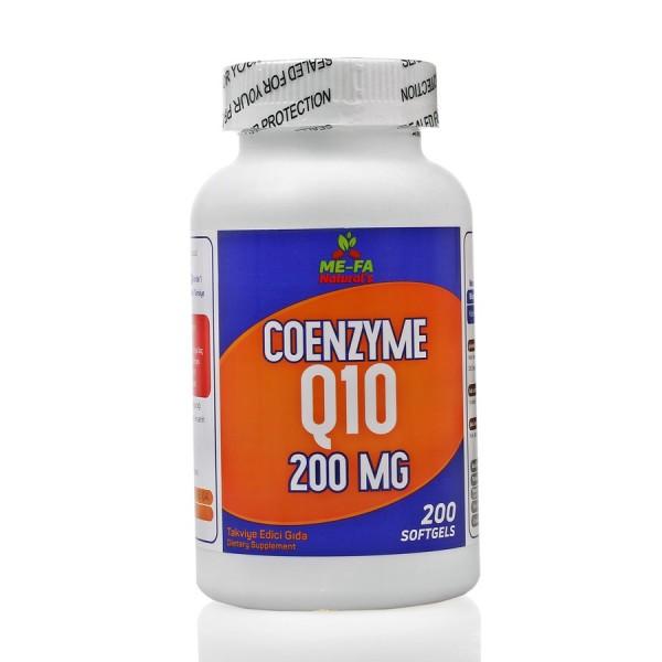 Mefa Naturals Coenzyme Q10 200 mg 200 Softgels