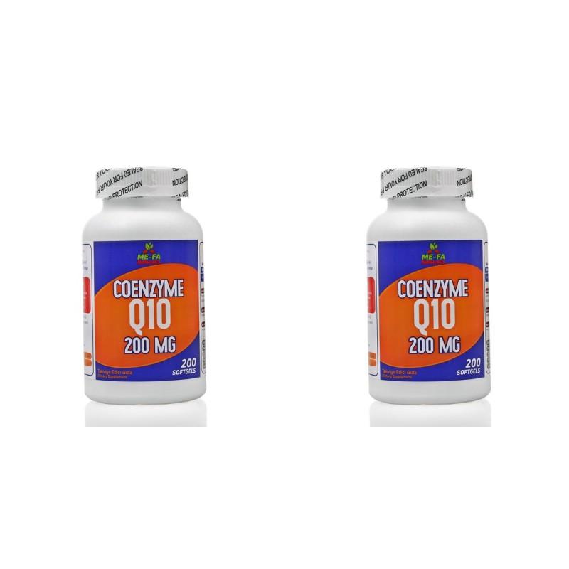 Mefa Naturals Coenzyme Q10 200 mg 400 Softgels