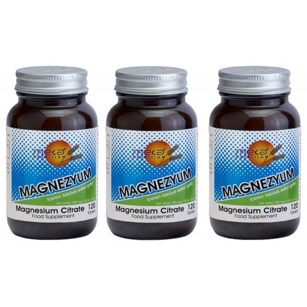 Meka Nutrition Magnesium Citrate 120 tablet 3 kutu