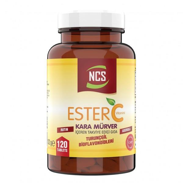 Ncs Ester C Vitamini 1000 mg 120 Tablet Kara Mürver Rutin Aserola