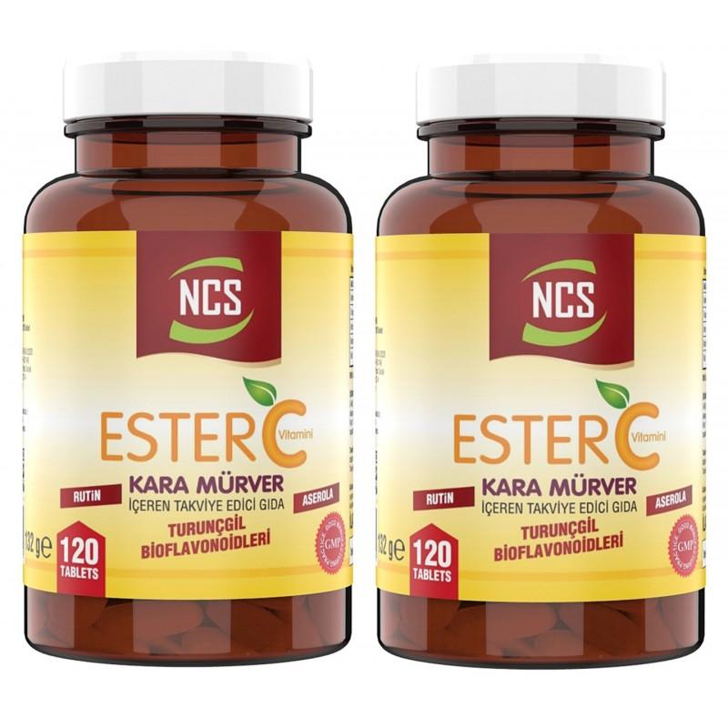Ncs Ester C Vitamini 1000 mg 120 Tablet Kara Mürver Rutin