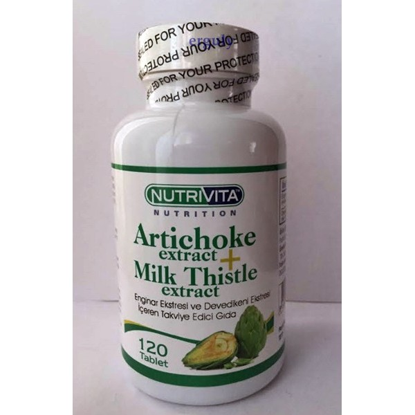 Nutrivita Artichoke Milk Thistle Extract 120 Tab