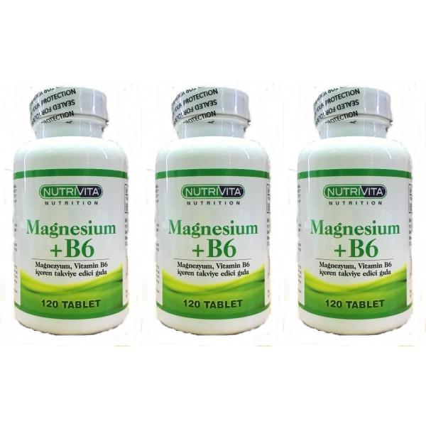 Nutrivita Magnesium  B6 Vitamin 120 Tablet 3 kutu