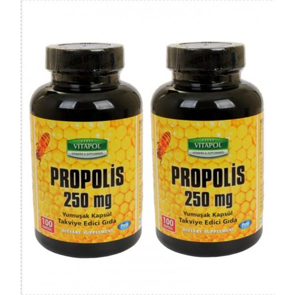 Vitapol Propolis Arı Sütü Polen 250 mg 100 Kapsül 2