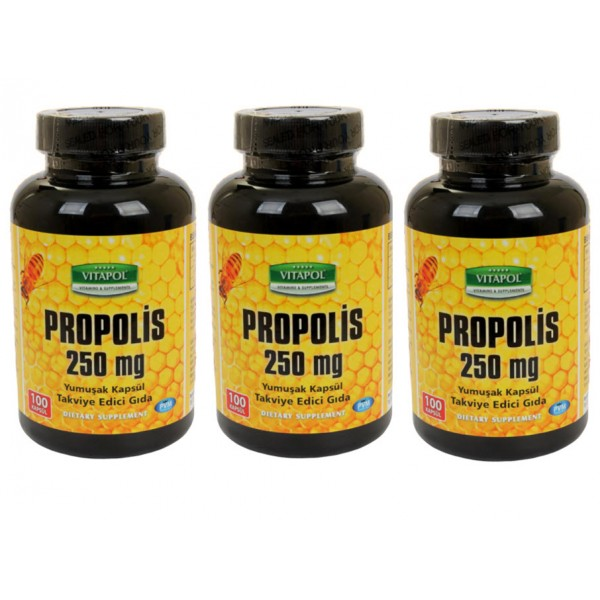 Vitapol Propolis Arı Sütü Polen 250 mg 100 Kapsül 3