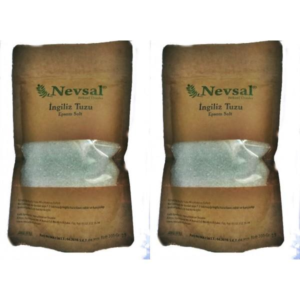 Nevsal İçilebilir İngiliz Tuzu 200 Gram 2 Adet