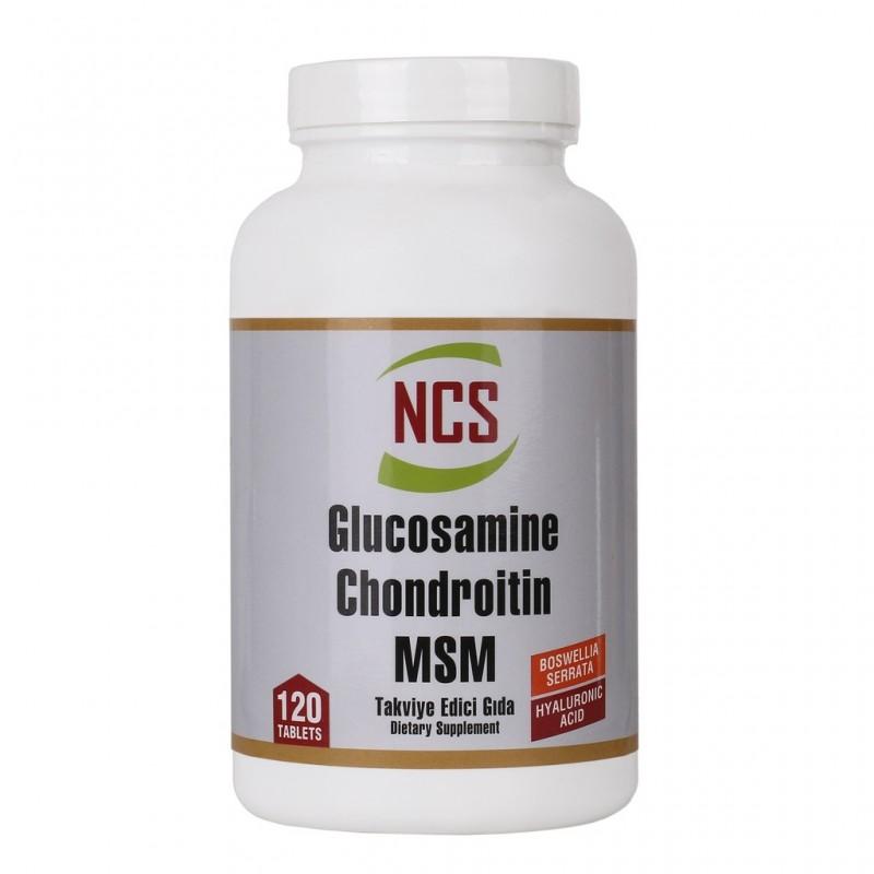 NCS  Glucosamine Chondroitin MSM Hyaluronic Acid Boswellia Serrata 120 Tablet