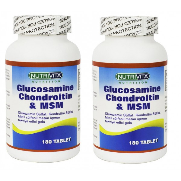 Nutrivita Nutrition Glucosamine Chondroitin Msm 180 tablet Adet
