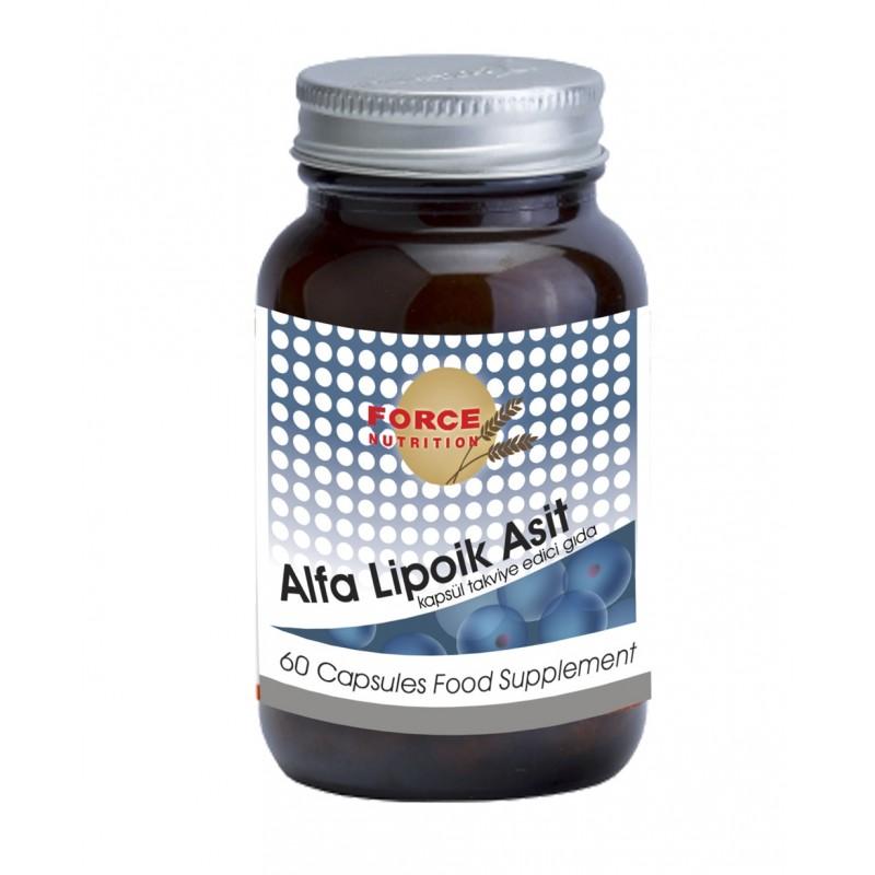 Force Nutrition Alfa Lipoik Asit 600 mg 60 Kapsül
