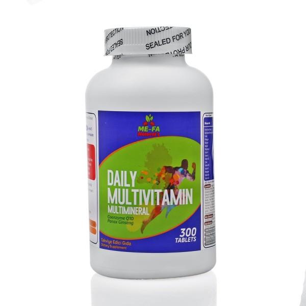 Mefa Naturals Daily Multivitamin Multimineral Coenzyme q10, Kırmızı Kore Ginsengi 300 Tablet