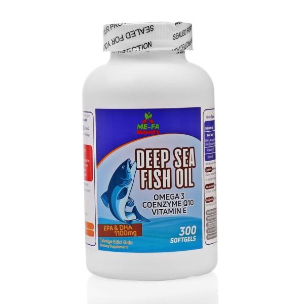 MEFA Naturals Omega 3 Coenzyme Q10 ve Vitamin E 300 Softgels