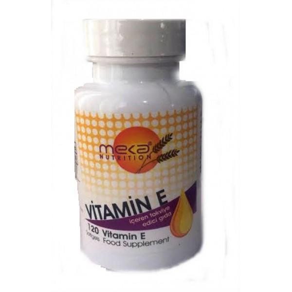 Meka Nutrition   Vitamin E (D-Alpha Tocopherol) 400 I.U   120 Softgels