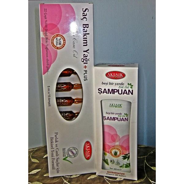 Saç Bakım Yağı(Serum)+Plus 5 ml 10 Adet Ampul